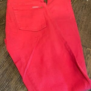 Pink 7 for all mankind jeans